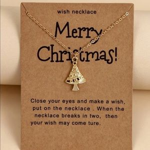 Christmas Tree Charm Necklace